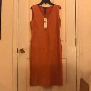 NWT Lauren Ralph Lauren Orange Suede Dress